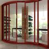 Portas de vidro do balanço dobro interior barato da liga de alumínio do preço (FT-D80)