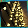 주문을 받아서 만들어진 전구 모양 LED 끈 빛 크리스마스 장신구