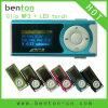 Mini joueur de MP3 d'agrafe avec l'affichage de LCM (BT-P102)