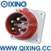 400V 32A 5p 유럽 Standard Panel Mounted Plug (QX821)