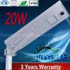 Indicatore luminoso di via solare Integrated del LED 20W con 3 anni di garanzia