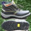 Cuero de la Vaca del Dedo del Pie Nmsafety Anti Slip Acero Zapatos Tapón de Seguridad