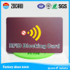 Blocker des Kreditkarte-Sicherheits-Schutz-RFID, der Karte blockt