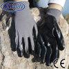 Перчатка серого Nylon черного нитрила Nmsafety покрытая