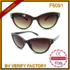 [ف6091] رخيصة بالجملة إيطاليا تصميم نظّارات شمس لأنّ نساء