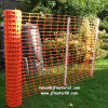 Rete fissa di plastica arancione della barriera d'avvertimento di sicurezza