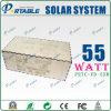 système de l'alimentation 55W solaire pour systèmes d'alimentation solaire de projets d'utilisation de maison et d'extérieur de mini avec AC110V~260V et DC12V