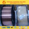 Alambre de soldadura de oro del surtidor 0.8m m 15kg/Spool Er70s-6 del puente de China con el cobre cubierto