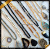 Камень отбортовывает ожерелье, цепное ожерелье, ожерелье ювелирных изделий способа Druzy оптовое (FN055)