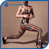 Nouveau mode femmes joli motif de l'impression couleur orange des jambières d'entraînement