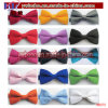 Cravate en polyester ajustable Couleurs solides Bow Tie Neckwear (B8075)