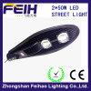Fabriek Outlet High Power 2*50W LED Street Light met Certificate
