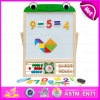 Planche à dessin magnétique de étude tôt en bois de jouets d'enfants, enfants en bois multifonctionnels apprenant tôt le jouet W12b084b