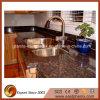 Encimera Polished natural de la cocina del granito de Tan Brown de la venta caliente