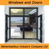 Cer-Bescheinigungs-Schwingen-Aluminiumfenster mit Niedrigem-e Glas