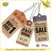 Etiqueta de encargo barato de papel Kraft colgar (JHXY-T012)