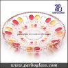 De decoratieve Plaat van het Fruit van het Glas met Kleur
