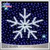 クリスマス青いLEDの雪片の通りのモチーフの装飾の照明