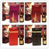 Sac de sacs de cadeau de papier de bouteille de vin double de spiritueux de boisson alcoolisée d'alcool de vin rouge de bouteille simples et avec l'impression offset