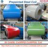 Bobina de aço galvanizada Prepainted PPGI de Aluzinc com cor popular