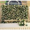 結婚式の装飾のための新しい人工的なアジサイの花の背景幕の壁