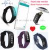 Bracelet intelligent de NFC Bluetooth avec le moniteur du rythme cardiaque et la pression sanguine