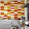 100*100mm interior acristalado de inyección de tinta color cerámica azulejos de pared de cocina