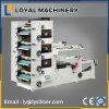 Machine d'impression flexographique d'étiquette adhésive de 4 couleurs