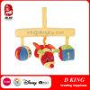 Het kleurrijke Stuk speelgoed van de Pluche van de Hanger van het Bed van de Baby met Bij Gevulde Dieren