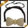 Pave di cristallo Beads Bow Bracelet, Fashion Bracelet con Gold Plating (FB065)