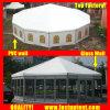 Grande parede sólida lado múltiplos tenda para a sala de banquetes 10m de diâmetro 100 pessoas lugares comentários