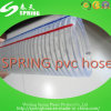 Hilo de acero de PVC transparente Tubo de manguera de descarga industrial de agua reforzada
