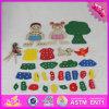 2016 Novos produtos Preschool Kids Wooden DIY Threading Toy W11e056