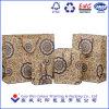 Papierzölle druckten Fertigkeit-den Papierstroh-Beutel, der vom braunen Packpapier gebildet wurde