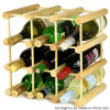 Soporte de visualización del vino del esquema de la fábrica con los palillos coloridos de madera naturales