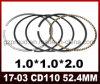 Piezas de la motocicleta de la alta calidad del aro del pistón CD110