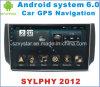 Automobile DVD del Android 6.0 per Nissan Sylphy 2012-2016 con percorso dell'automobile
