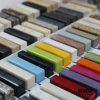 Surface solide matérielle décorative en pierre de marbre de couleurs de centaines