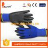 Ddsafety blaue Zwischenlage mit schwarzem PU-Handschuh