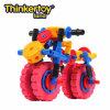 La pista de Thinkertoy bloquea la motocicleta grande de la linterna del juguete del coche del motor estupendo educativo de la serie (C6404)