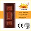 Puerta de acero de seguridad exterior de la puerta principal de Diseño (SC-S187)