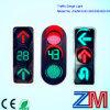 Feu de signalisation de DEL/feux de signalisation de clignotement diplômées par En12368 avec des flèches