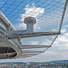 SS316 La corde de fils en acier inoxydable maille filet de clôture de sécurité