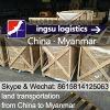 Transport terrestre de Guangzhou vers Yangon Thilawa Logisitcs