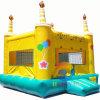 Da casa inflável do salto do feliz aniversario castelo de salto para o partido