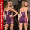 Ropa interior de señora Purple Sleepwear Dress Sexy