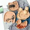 Хороший мультфильм дерева окна деревянные закуска пластины для детей и кухня