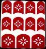 Collants à la mode de clou de collants d'art de clou de l'eau rouge