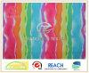 Shorts da praia da impressão do arco-íris da fibra do Twill micro/tela do vestuário (ZCGP075)