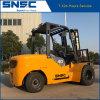 Snsc 에쿠아도르를 위한 정면 두 배 타이어를 가진 4 톤 디젤 엔진 포크리프트